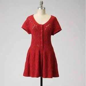 EUC Anthropologie Red Sparrow Sweater